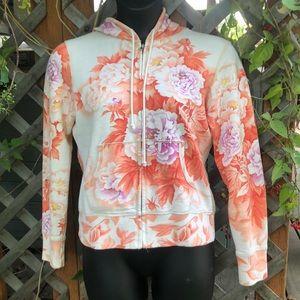 Lucky Brand floral pattern hoodie.  Women's medium